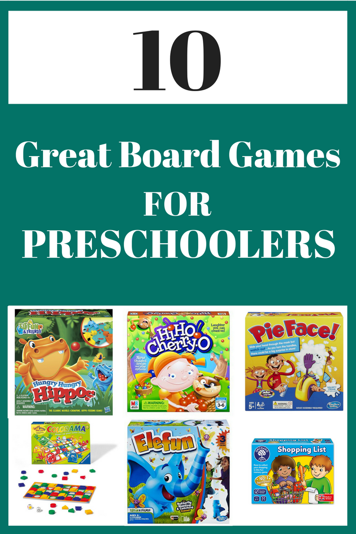 10 great board games for preschoolers